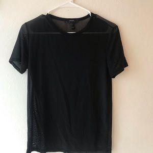 Sheer mesh black shirt